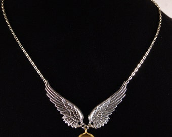 Golden Snitch Locket Necklace - Harry Potter Inspired, I Open At The Close