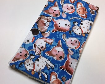 Baby boy burp cloths, burp rags, puppy dogs, Item #130