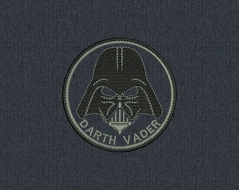 Darth Vader Patch - Star Wars - Machine embroidery design - for instant download