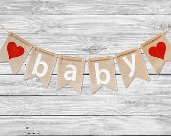 burlap baby shower banner baby shower gift burlap baby shower decorations baby bunting