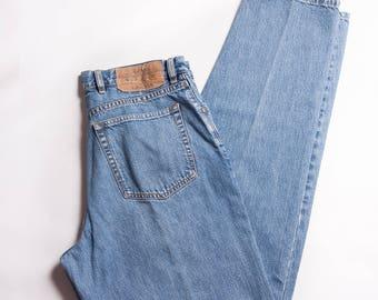 SALE Men's Banana Republic 90s Jeans Light Wash Jeans High Waist Unisex Jeans Mom Jeans Boyfriend Jeans Vintage Jeans 90s Men's 32x32