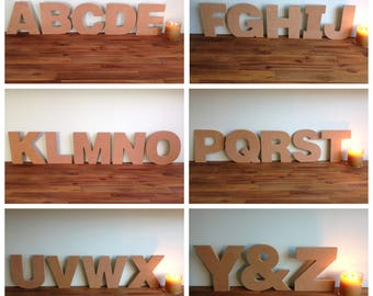 Large Wooden MDF Letter~Raw Plain~Freestanding~DIY Decorate/Personalise~Kids Craft Party~Rustic Style~All letters A to Z available~21cm high