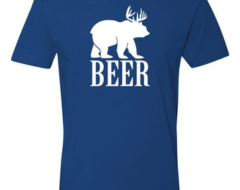 "Craft ""Beer"" Tshirt Craft Beer Clothing Craft Beer Lover Craft Beer Shirt Bear Deer Shirt"