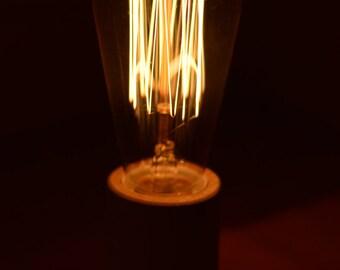 Desk lamp with Edison bulb HANDMADE!