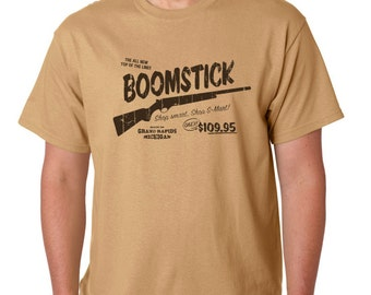 Evil Dead - BoomStick - T-shirt - Cult Film and TV Show Inspired Design - Hand Screen Printed