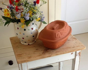 RESERVED FOR TOM Vintage Italian Terracotta Clay Cooking Pot