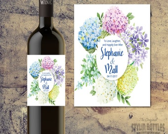 CUSTOM WEDDING GIFT-Wedding Wine Bottle Label-Personalized Wine Bottle Labels for Wedding Tables, Bride and Groom Wedding Wine Bottle Label