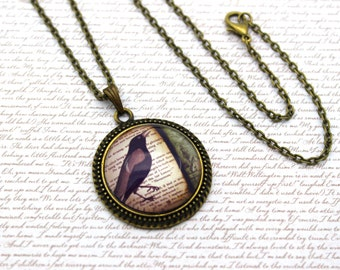 Edgar Allan Poe, The Raven, Nevermore Necklace or Keychain, Keyring