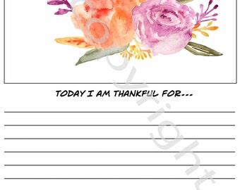 Gratitude Journal Page Instant Download