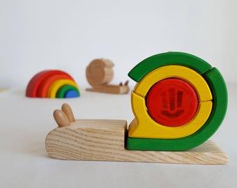 Snail stacking wood - Mastro toys