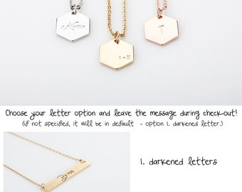 Rose Gold Name Pendant Necklaces, Bridesmaid Gift, Dainty Gold Initial Charm Necklaces, Gift for every day budget, Mom Necklace