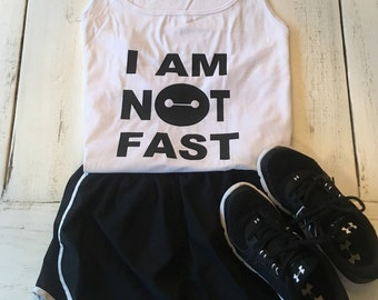 I am Not Fast Razorback Tank - Available in many color options - Adult - Disney Shirt  - Womens
