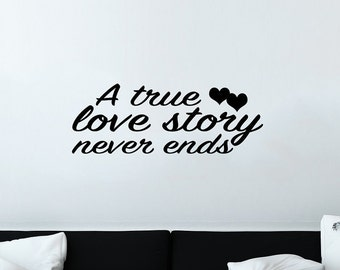 Love Story Decal | Love Story Quote | Love Decor | Love Decal | Quote Decal | Quote Wall Decal | Wall Quotes | Decal Quotes