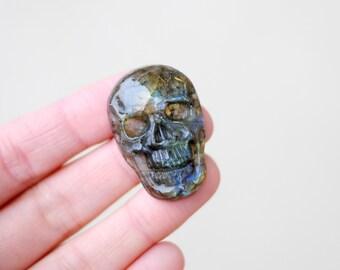Labradorite Skull Cabochon / Skull Beads / Skull Cabochon / CAB066