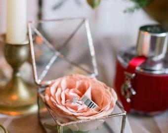 Wedding Ring Box -  Jewelry box - Engagement Ring Box - Jewel box  - Newlywed Gift - Ring Bearer Box - Small  Box - Geometric Ring Box