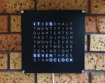 26cm Square Word Clock