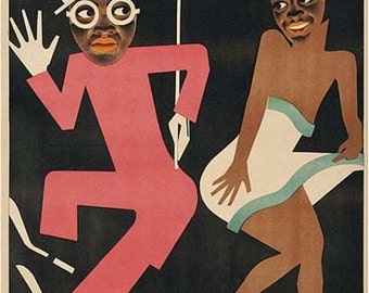 Vintage Soviet Union Negro Opera Movie Poster A3 Print