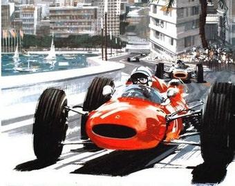 1965 Monaco Grand Prix Poster  A3/A2/A1 Print