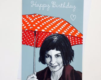 Amelie Illustrative A5 Birthday Card