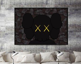 Custom Urban Graffiti Poster, Supreme Poster Art, Kaws Style Wall Art Poster, 12 x 18  Livingroom Bedroom Wall Print Bape Style Poster