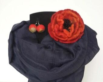 Felt brooch decoration 100% wool