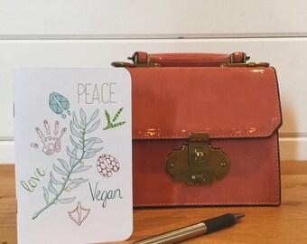 Peace Love Vegan // Blank Journal