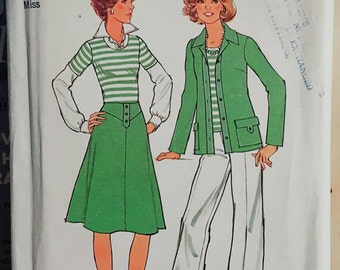 1976 Simplicity 7450 Misses Jacket, Top, Skirt and Pants Size 16 UNCUT FF Sewing Pattern ReTrO!