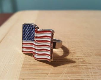USA Flag stainless steel ring / ring of the American stainless steel flag