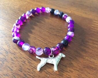 Purple pearls 6 mm bracelet