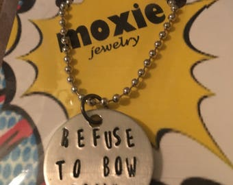 Refuse to bow down necklace or keyring the Avengers