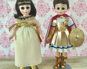 Vintage Antony and Cleopatra Doll Set with Original Boxes, Madame Alexander Doll, Vintage Collectible Doll, Gift for Girl