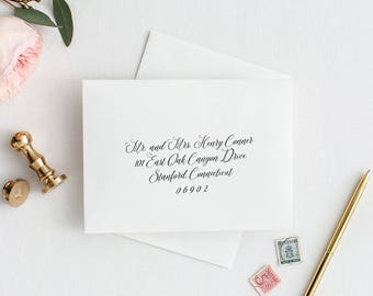 Handwritten Calligraphy Wedding Envelope Addressing Template, Calligraphy Envelope, Instant Download, A7, A1, MAM200_26