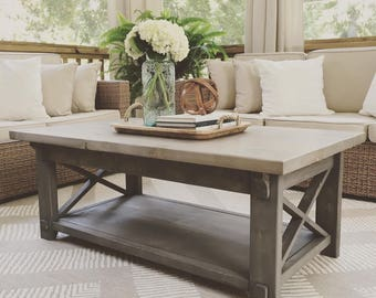 Delightful X Style Country Coffee Table, X Coffee Table, Country Coffee Table, Rustic
