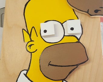 Homer Simpson face with changeable expressions