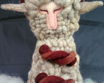 Felted Angry Sheep