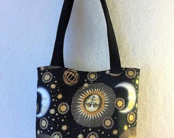 Eclipse, Celestial, moon, stars, Shoulder bag, tote bag, purse, carry all, yoga bag,  beach bag, gift, Carry On Bag, Overnight Bag