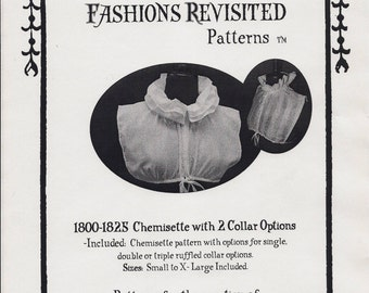 1800-1825 Regency Era Chemisette Sewing Pattern
