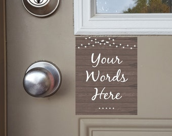 Custom Door Magnet, No Soliciting Door Sign, Do Not Ring Doorbell, Baby Sleeping, Barking Dog, Do Not Disturb, Night Shift, Front Door Sign