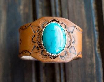 Native American, Cuff Bracelet, Boho Bracelet, Turquoise Bracelets, Boho Jewelry, Turquoise Bracelets For Women, Leather Bracelet, Handmade