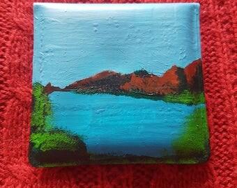 Bay and Mountains Landscape Pocket Ashtray