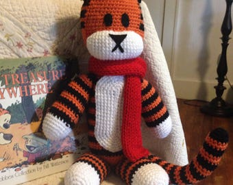Calvin & Hobbes Inspired Stuffed Tiger