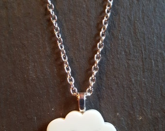 Happy Cloud Resin Pendant Necklace