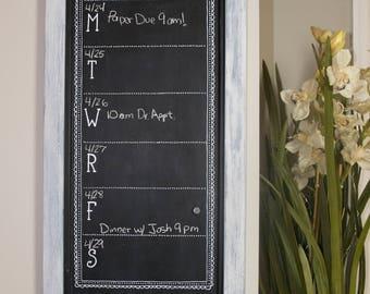Weekly Magnetic Chalkboard Calendar 3 ft X 1 ft