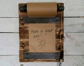 Rustic Mini Memo Board-Reclaimed Wood Memo Board-Message Board-Farmhouse Pallet Wood Memo Board-Kitchen Memo Board-To Do List