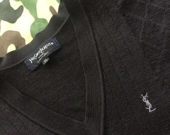 YVES SAINT LAURENT V Neck Sweater