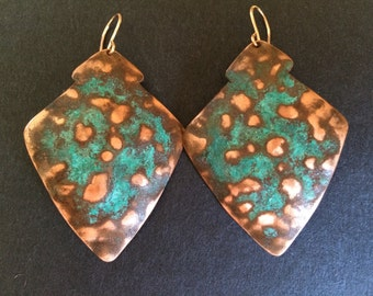 Hammered Sheild Earrings - S0003