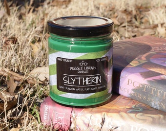 Slytherin - inspired by Harry Potter - hand poured soy candle - 9oz glass jar