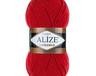 ALIZE LANAGOLD Alize wool yarn spring yarn winter yarn hand knit yarn acrylic yarn soft yarn blend yarn color choice blend wool yarn