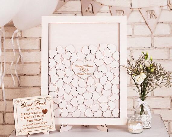 Personalised wedding drop box Drop Top Guest Book Wedding Sign