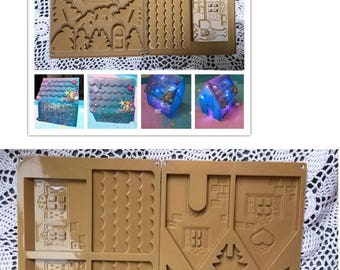Resin mould,mini house mould,UV resin mould,silicon mould,UV resin,resin craft,mould